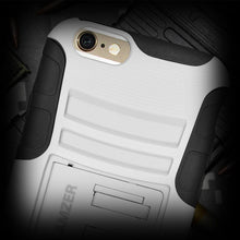 Load image into Gallery viewer, AMZER Hybrid Kickstand Case - Black/ White for iPhone 6