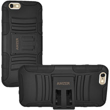 Load image into Gallery viewer, Amzer Hybrid Kickstand Case - Black/ Black for iPhone 6s, iPhone 6