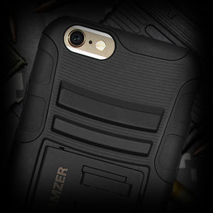 Amzer Hybrid Kickstand Case - Black/ Black for iPhone 6s, iPhone 6
