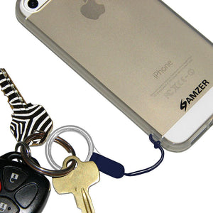 Amzer Detachable Cell Phone Neck Lanyard - Navy Blue