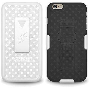 AMZER Shellster Hard Case with Belt Clip Holster for iPhone 6 Plus