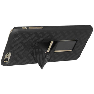 AMZER Snap On Hard Case with Kickstand for iPhone 6 Plus - Black