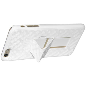 AMZER Snap On Case with Kickstand for iPhone 6 Plus - White