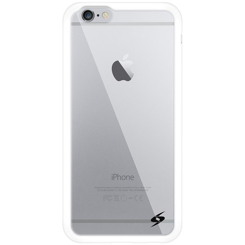 AMZER SlimGrip Hybrid Case - White for iPhone 6 Plus