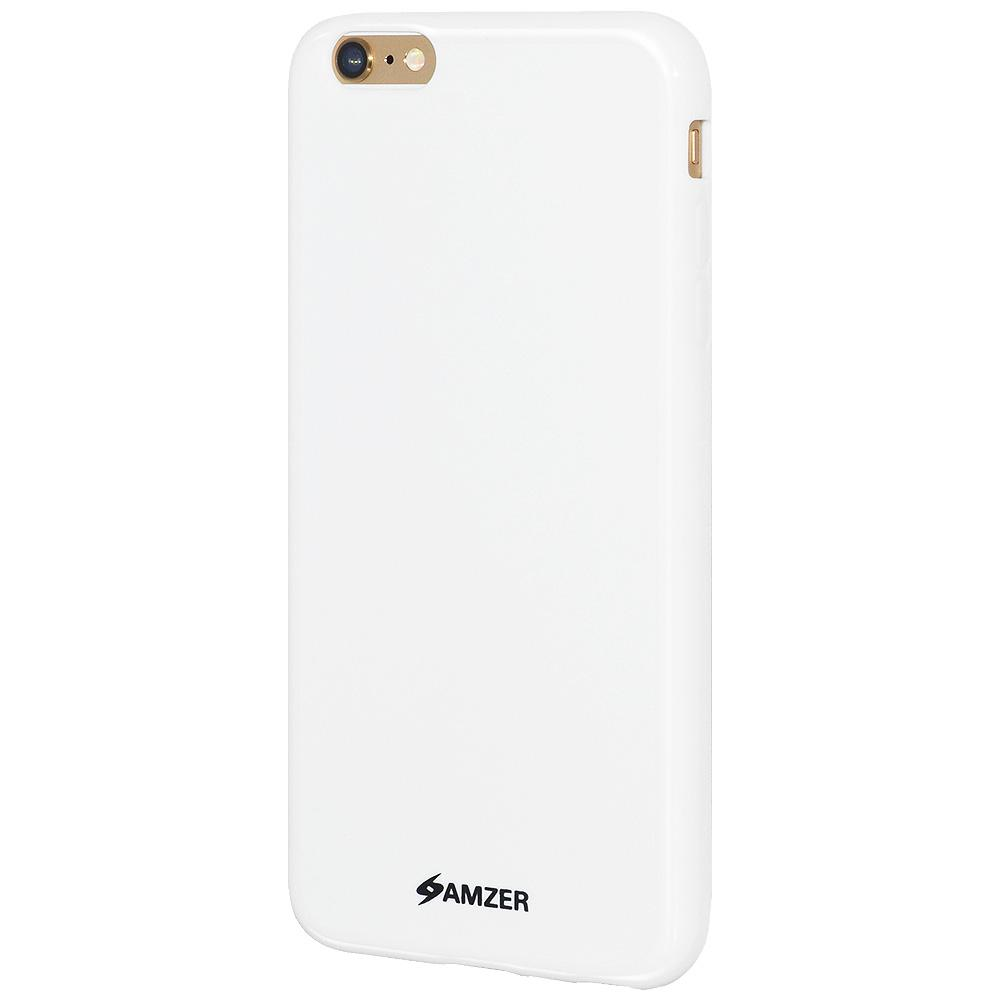 AMZER Pudding TPU Case - White for iPhone 6 Plus