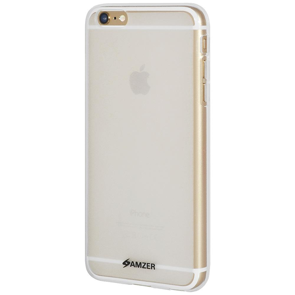 AMZER Pudding TPU Case for iPhone 6 Plus - Cloudy Clear
