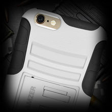 Load image into Gallery viewer, AMZER Hybrid Kickstand Case - Black/ White for iPhone 6 Plus