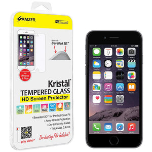 AMZER Kristal Tempered Glass HD Screen Protector for iPhone 6 Plus