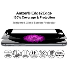 Load image into Gallery viewer, AMZER Kristal Tempered Glass HD Edge2Edge Black Screen Protector for iPhone 6