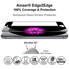 Load image into Gallery viewer, AMZER Kristal Tempered Glass HD Edge2Edge Black Screen Protector for iPhone 6 Plus