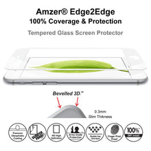 Load image into Gallery viewer, AMZER Tempered Glass HD Edge2Edge White Screen Protector for iPhone 6+ 6s+ Plus