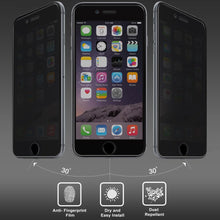 Load image into Gallery viewer, AMZER Kristal Privacy Tempered Glass HD Edge2Edge Black Screen Protector for iPhone 6