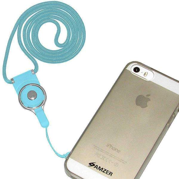 AMZER Durable Detachable Cell Phone Neck Lanyard - Lucent Blue