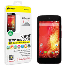 Load image into Gallery viewer, AMZER Kristal Tempered Glass HD Screen Protector for Karbonn Sparkle V