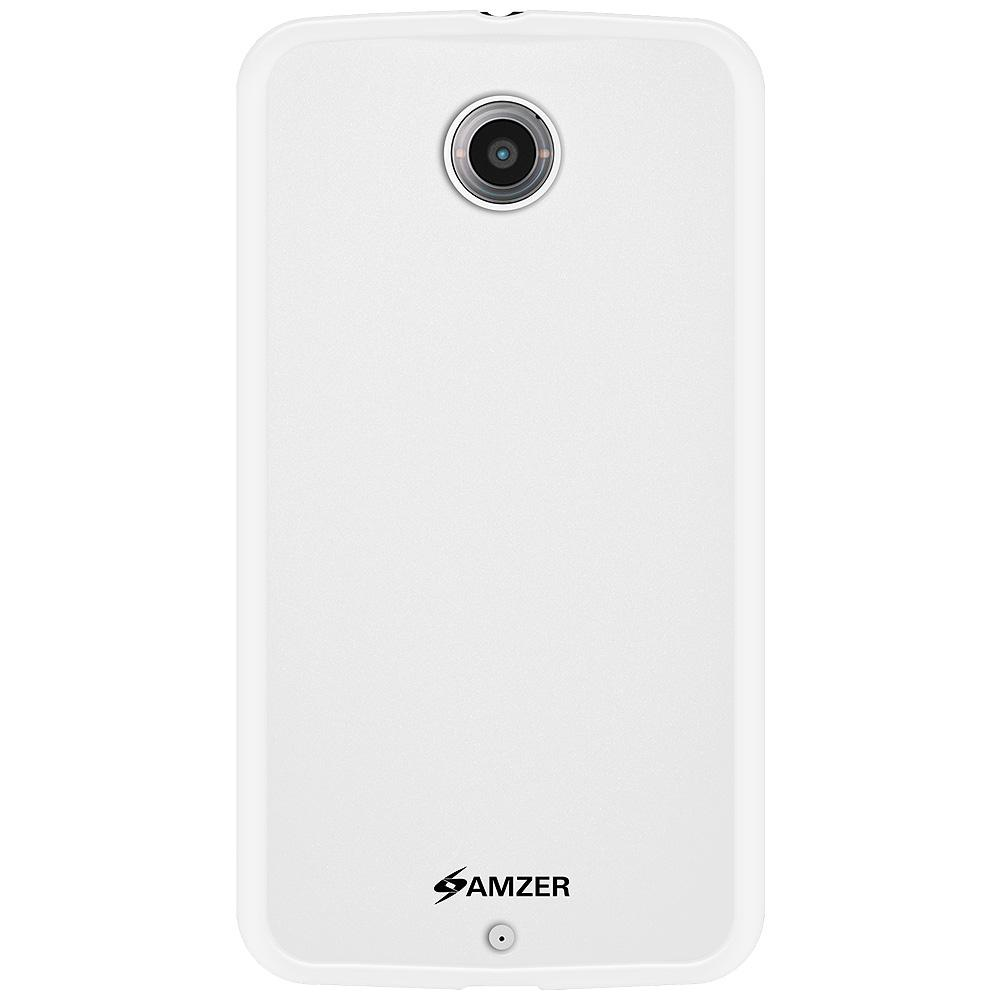 AMZER Pudding TPU Case - White for Google Nexus 6 XT1100