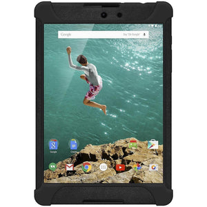 AMZER Shockproof Rugged Silicone Skin Jelly Case for Google Nexus 9 - Black