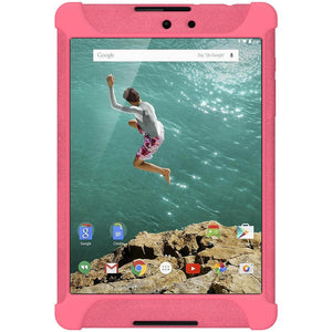 AMZER Shockproof Rugged Silicone Skin Jelly Case for Google Nexus 9 - Baby Pink