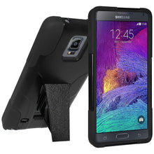 Load image into Gallery viewer, AMZER Double Layer Hybrid Case with Kickstand - Black/ Black for Samsung GALAXY Note 4 SM-N910
