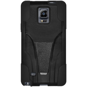 AMZER Double Layer Hybrid Case with Kickstand - Black/ Black for Samsung GALAXY Note 4 SM-N910