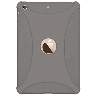 AMZER Shockproof Rugged Silicone Skin Jelly Case for Apple iPad mini 3 - Grey
