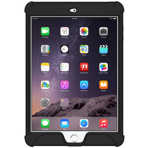 AMZER Shockproof Rugged Silicone Skin Jelly Case for Apple iPad mini 3 - Black