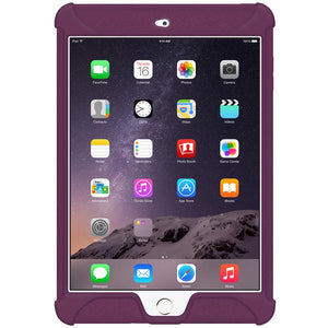 AMZER Shockproof Rugged Silicone Skin Jelly Case for Apple iPad mini 3 - Purple
