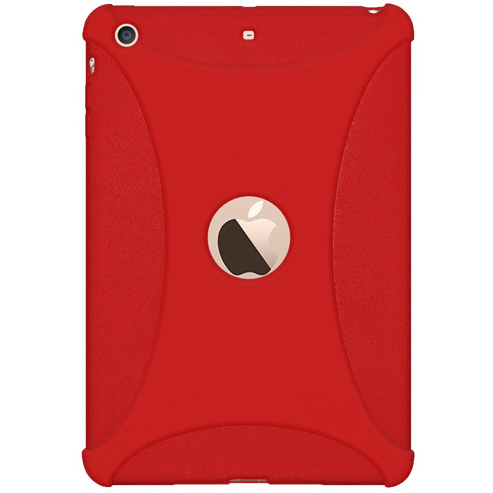 AMZER Shockproof Rugged Silicone Skin Jelly Case for Apple iPad mini 3 - Red