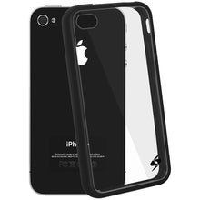 Load image into Gallery viewer, AMZER SlimGrip Hybrid Case - Black for iPhone 4S