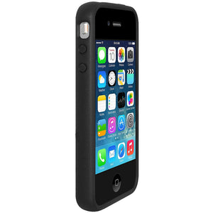 AMZER SlimGrip Hybrid Case - Black for iPhone 4S