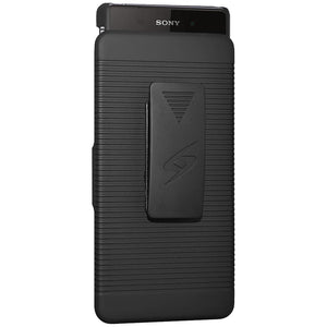 AMZER Shellster Hard Case with Belt Clip Holster for Sony Xperia Z2 - Black