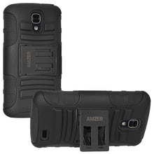 Load image into Gallery viewer, AMZER Hybrid Kickstand Case - Black/ Black for LG Access L31L LTE