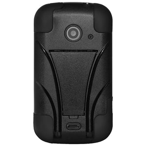 AMZER® Double Layer Hybrid Case with Kickstand - Black/ Black for ZTE Prelude 2