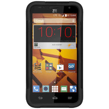 Load image into Gallery viewer, AMZER® Double Layer Hybrid Case with Kickstand - Black/ Black for ZTE Overture 2 Z813