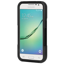 Load image into Gallery viewer, AMZER Double Layer Hybrid Case with Kickstand - Black/ Black for Samsung GALAXY Core Prime SM-G360