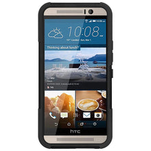Load image into Gallery viewer, AMZER Double Layer Hybrid Case with Kickstand - Black/ Black for HTC One M9