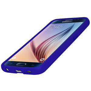 AMZER Silicone Skin Jelly Case for Samsung Galaxy S6 SM-G920F - Blue