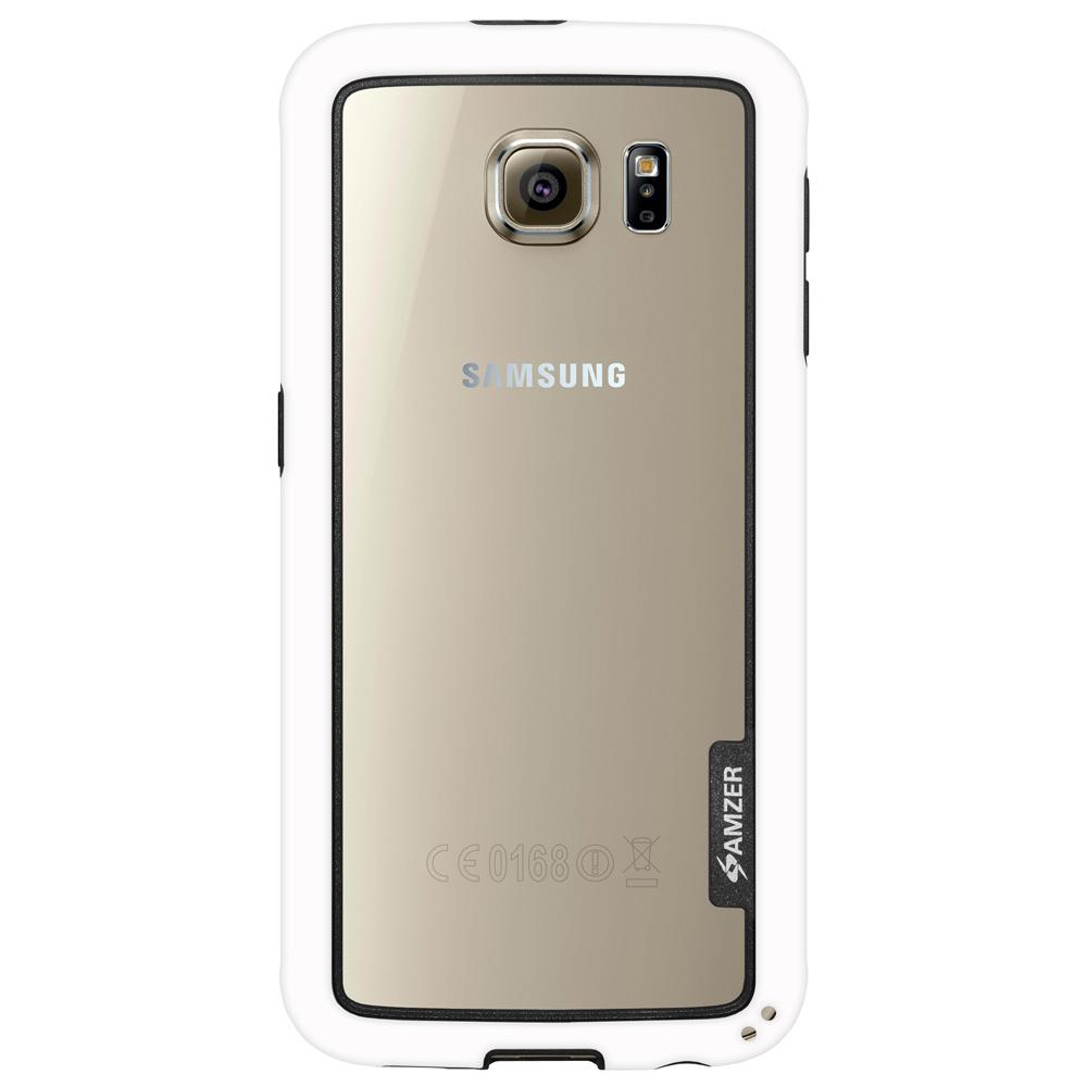 AMZER Border Case - White for Samsung Galaxy S6 SM-G920F