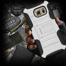 Load image into Gallery viewer, AMZER Hybrid Kickstand Case - Black/ White for Samsung Galaxy S6 SM-G920F