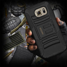 Load image into Gallery viewer, AMZER Hybrid Kickstand Case - Black/ Black for Samsung Galaxy S6 SM-G920F