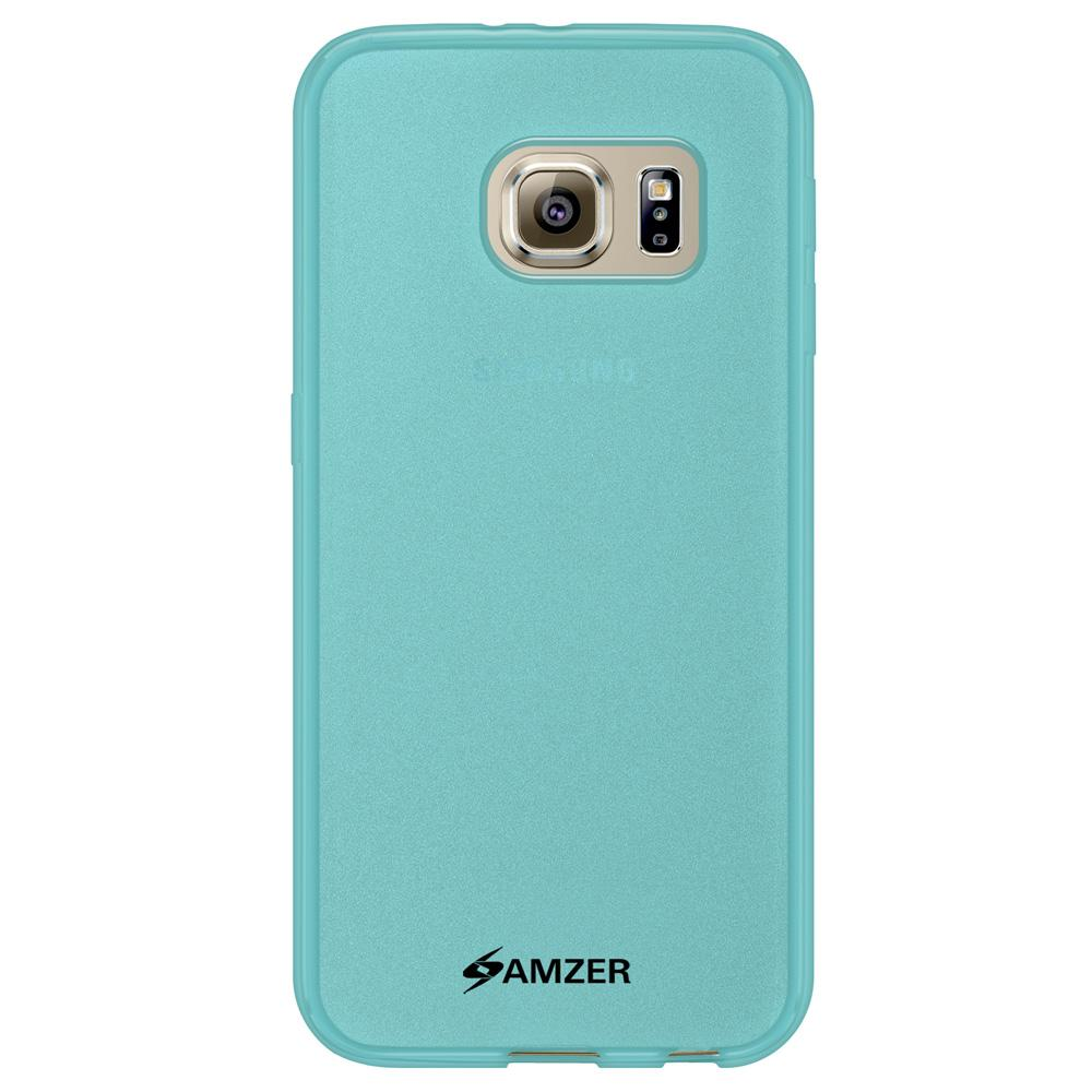 AMZER Pudding TPU Case - Translucent Blue for Samsung Galaxy S6 SM-G920F