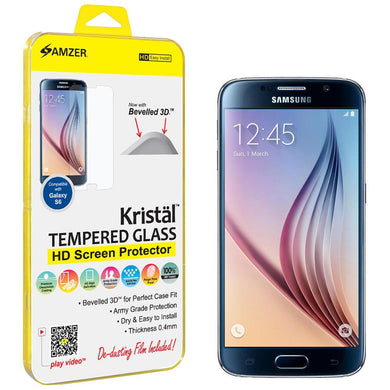 AMZER Kristal Tempered Glass HD Screen Protector for Samsung Galaxy S6