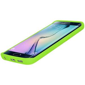 AMZER Silicone Skin Jelly Case for Samsung Galaxy S6 edge SM-G925F - Green