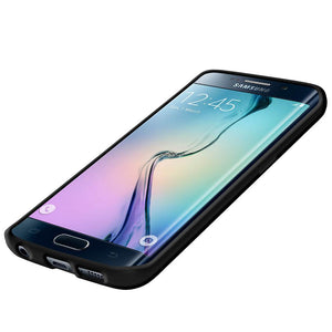 AMZER SlimGrip Hybrid Case - Black for Samsung Galaxy S6 edge SM-G925F