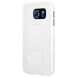 AMZER Snap On Case with Kickstand - White for Samsung Galaxy S6 SM-G920F
