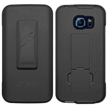 Load image into Gallery viewer, AMZER Shellster Hard Case  Belt Clip Holster for Samsung Galaxy S6 edge - Black