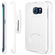 Load image into Gallery viewer, AMZER Shellster Hard Case  Belt Clip Holster for Samsung Galaxy S6 edge - White