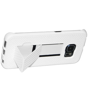 AMZER Shellster Hard Case  Belt Clip Holster for Samsung Galaxy S6 edge - White