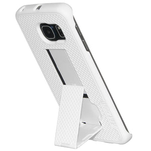 AMZER Snap On Case with Kickstand - White for Samsung Galaxy S6 edge SM-G925F