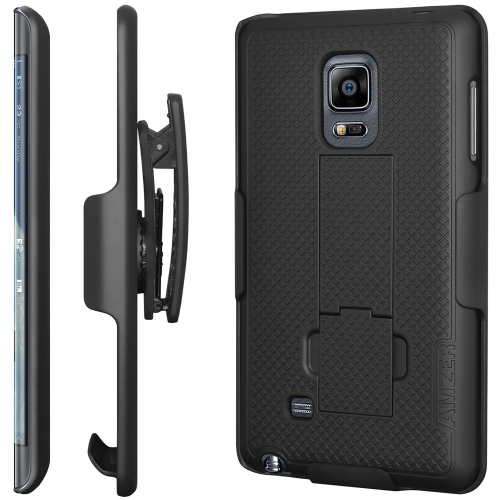 AMZER Shellster Hard Case Clip Holster for Samsung GALAXY Note Edge - Black