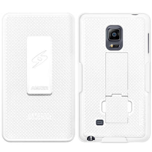 AMZER Shellster Hard Case Clip Holster for Samsung GALAXY Note Edge - White